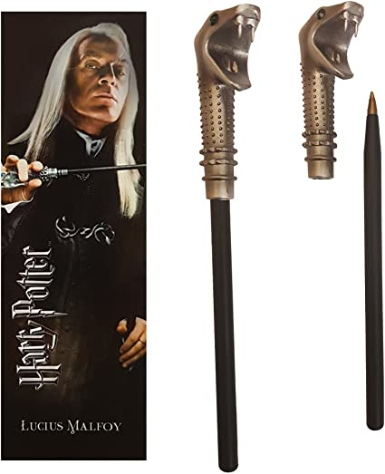 Harry Potter marque-page Lucius Malfoy Stylo baguette Noble Collection