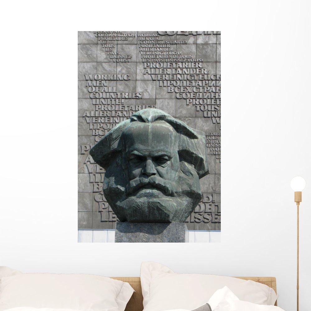 Amazon.com: Karl Marx Estatua Mural por Wallmonkeys despegar ...