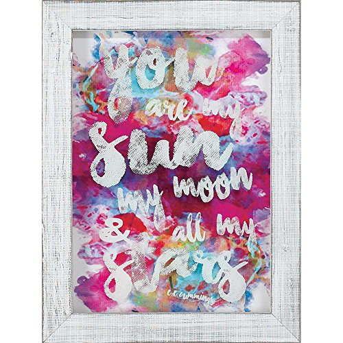 - Dicksons You Are My Sun, Moon, Stars Fuchsia Watercolor 10 x 14 Wood Wall Sign Plaque