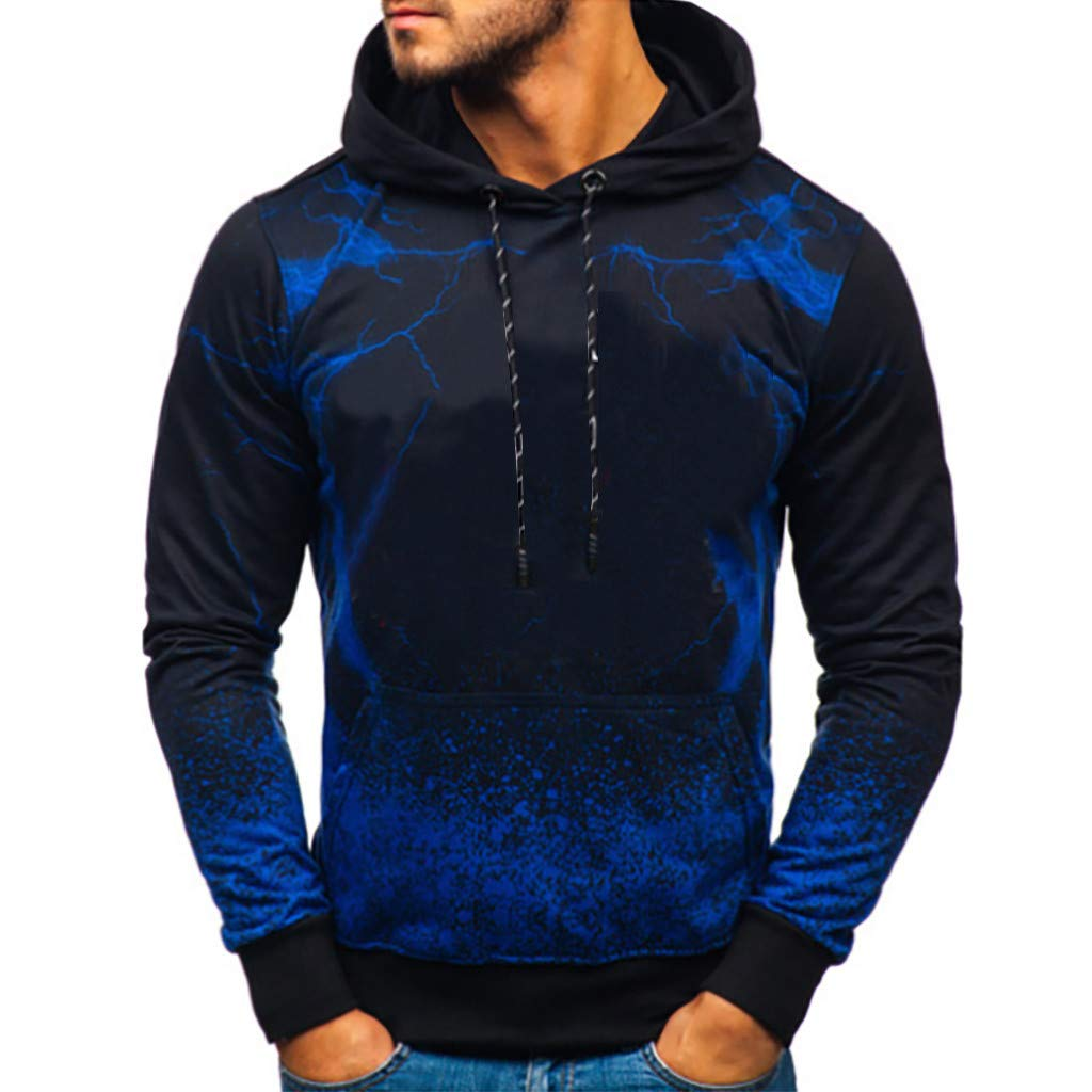 Fastbot Big Sale Men's Pullover Tie Dye Hooded Sweatshirt Loose Casual Hoodie Shirt Autumn Winter by Fastbot