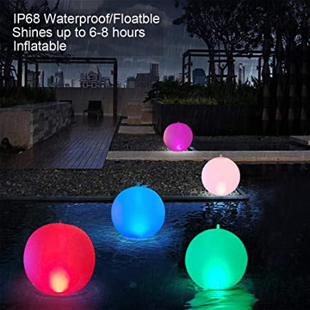 Esuper Solar Inflatable Floating Pool Light