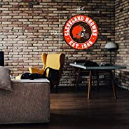 """Cleveland Browns 22"""" Round PVC Distressed Logo Wall"""