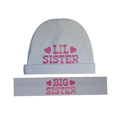 Big Sister Little Sister Matching Cotton Headband   Hat Gift Set - Funny  Girl Designs 1690dcd9e52b
