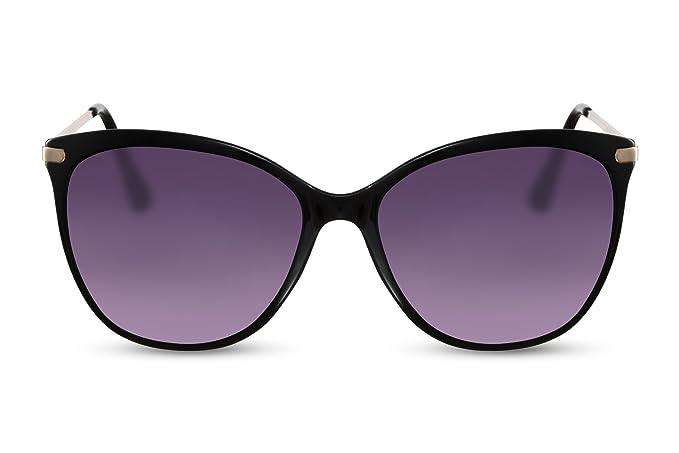 Cheapass Gafas de Sol Ojos de Gato Gafas Estampado Leopardo Grandes XXL Metálicas Mujeres Damas