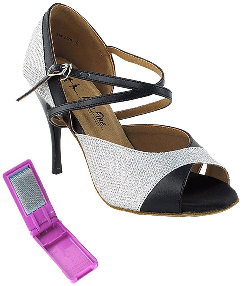 【国内正規品】 [Very Glitter Fine Dance Dance Shoes] レディース B075BQ1595 6 B(M) [Very US Silver Glitter Satin Silver Glitter Satin 6 B(M) US, 田老町:c88f2bcc --- a0267596.xsph.ru