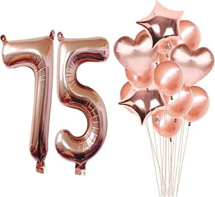 75th Happy Birthday Party Balloons Helium Air Latex Colour CHOOSE YOUR QUANTITY