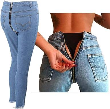 Hx Fashion Pantalones De Mezclilla Damas Mujer Skinny Jeans Moda Slim Fit Basic Pantalones Lapiz De Cintura Alta Pantalones Vaqueros De Mezclilla Pantalones Moda Callejera Ropa Amazon Es Ropa Y Accesorios