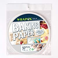WRAPOK Air Fryer Liner 7 inch Round Perforated Parchment Bamboo Steamer Paper 50 Count Non-stick for Baking Steaming Basket Cooking Cake Pans Circle