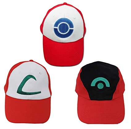 d83cbef2 Image Unavailable. Image not available for. Color: TL Ash Ketchum Adult  Size Hat Set 3 ...
