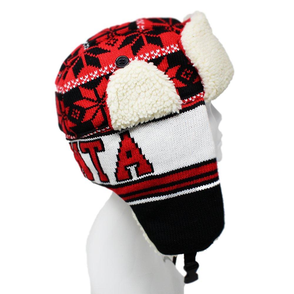 0200fc2757b ChoKoLids Football Team City Name Knitted Trapper Winter Hat - 23 Cities  (Atlanta) at Amazon Men s Clothing store