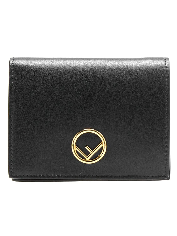 [フェンディ] FENDI レディース 二つ折り財布 SMALL WALLET [スモール ウォレット] 8M0387 A0KK [並行輸入品] B07DCKM5VRブラック