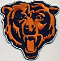 Chicago Bears Logo Football NFL Embroidered Iron On Patch Hat Jersey - Large