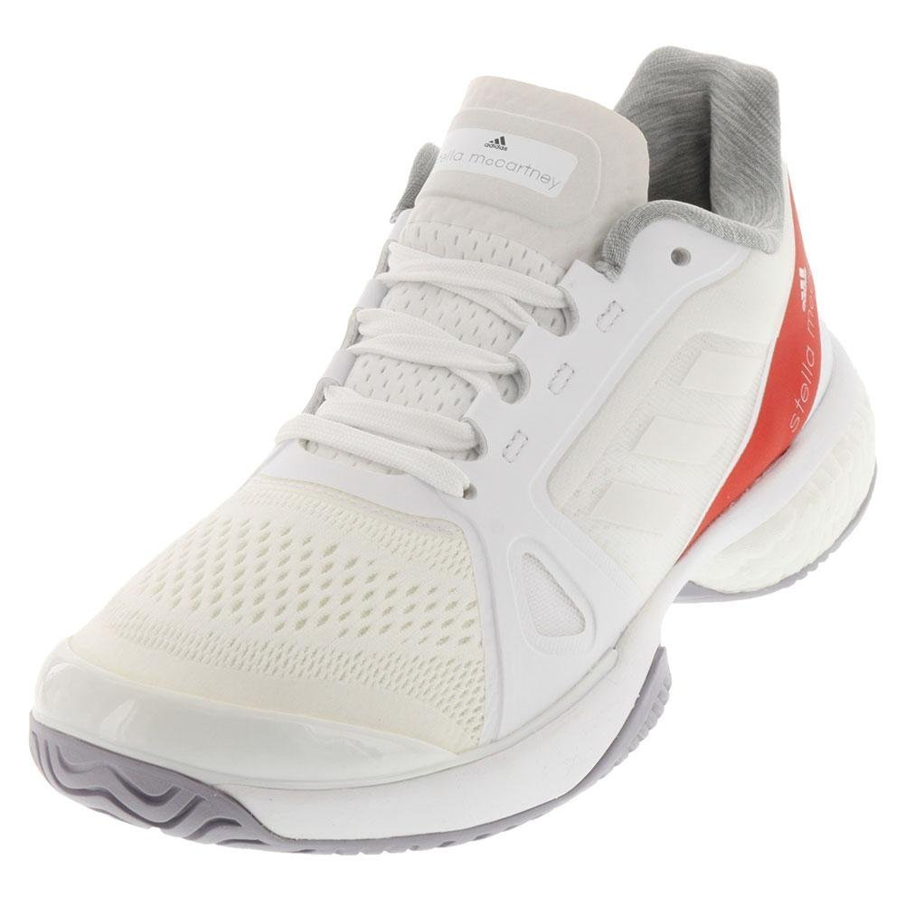 adidas Performance Women's ASMC Barricade Boost Tennis Shoe B073PD51GF 6.5 B(M) US|White/Dark Callistos/Pearl Grey