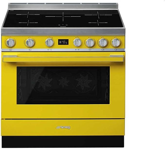 Smeg Cpf9ipyw Cucina Piano Cottura Giallo A Induzione A Amazon It Grandi Elettrodomestici