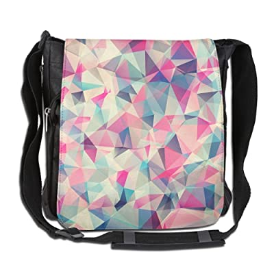 Abstract Geometric Fashion Print Diagonal Single Shoulder Bag
