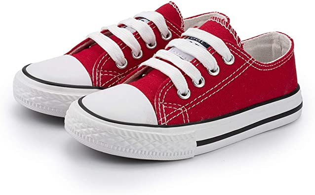 Toddler//Little Kid//Big Kid Boys Girls Canvas Sneakers High Tops Fashion Lace up Casual Walking Shoes