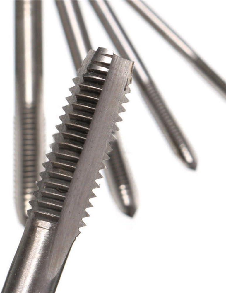 NUZAMAS Juego de 5 roscas m/étricas rosca de mano rosca tapones Set M3 M4 M5 M6 M8 herramienta de rosca