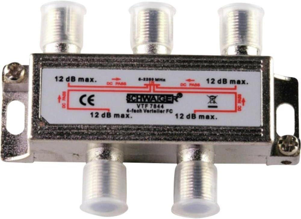 Schwaiger Verteiler 4 Fach 5 2250 Mhz Silber Computer Zubehör