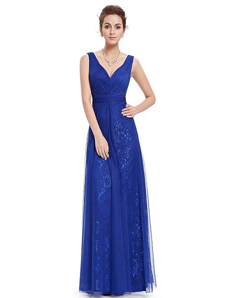 Ever Pretty - Vestido - corte imperio - para mujer azul Azul Zafiro 46