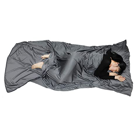 meet 947b4 889e7 Browint Sleeping Bag Liner with All Around Two-Way Zipper, Travel Sheet,  87