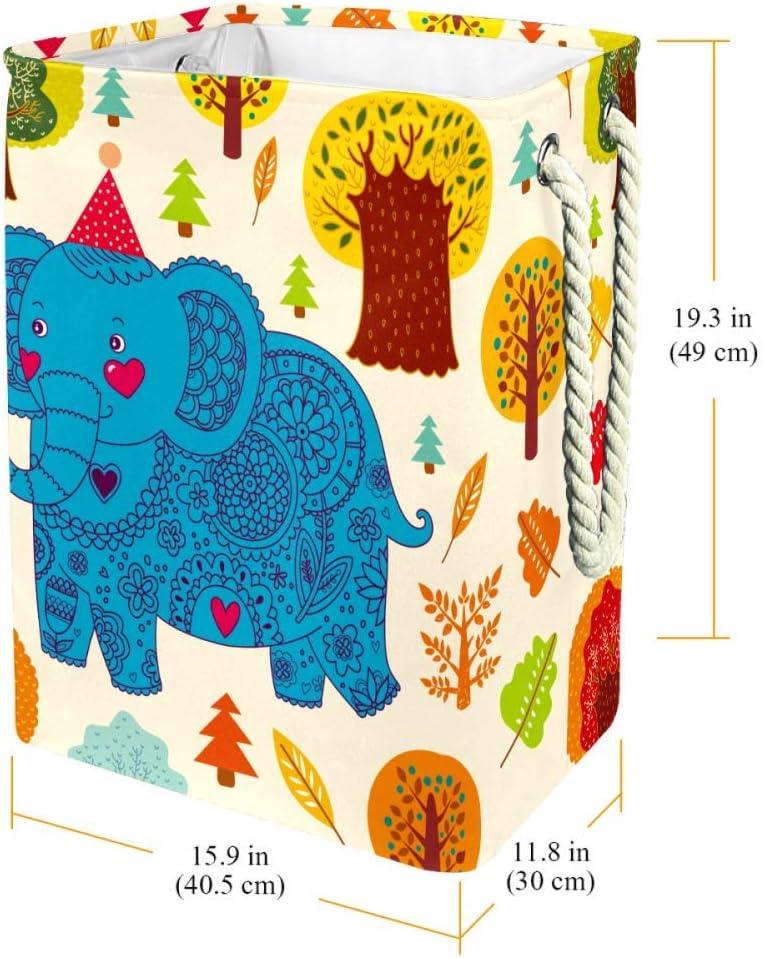 Ours de Dessin animé Sac à Linge Rectangle en Tissu Oxford avec poignées Panier de Rangement Haute capacité 49x30x40.5 cm Color8