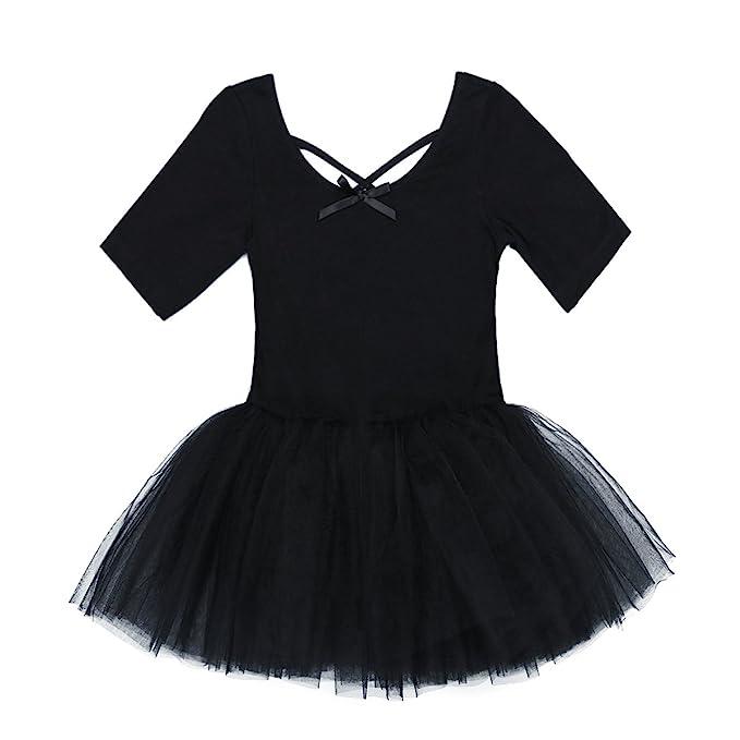 88b849bb0 Amazon.com  TiaoBug Girls Short Sleeve Gymnastics Dance Ballet ...