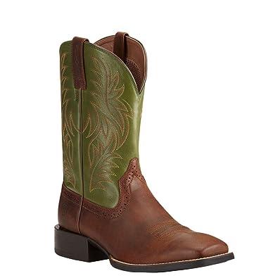 fe8b3c6b5 Ariat Men s Sport Western Wide Square Toe Rafter Tan Prairie Pesto Boot   Amazon.co.uk  Shoes   Bags