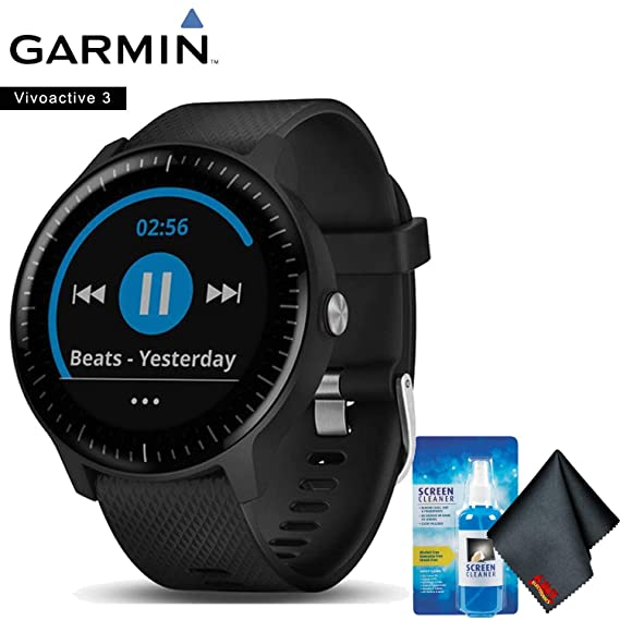 Amazon.com: Garmin vivoactive 3 Music (Black with Stainless ...