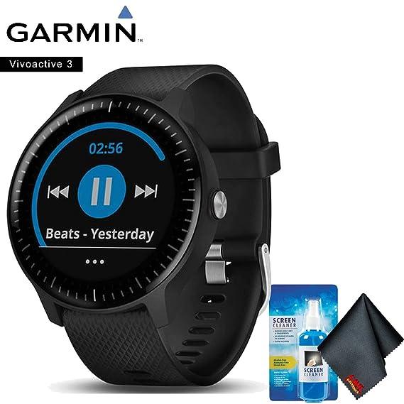 Amazon.com: Garmin vivoactive 3 Music (Black with Stainless ...