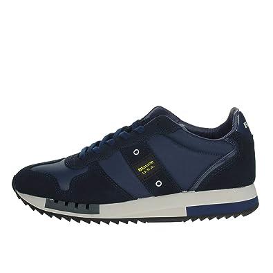 Blauer Scarpe Sneaker Running MOD. Queens in SuedeTessuto Blu Navy Uomo U20BU01