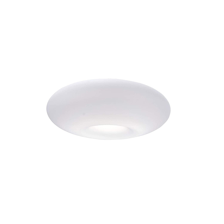 Paul Neuhaus 8108-17 Q-ELINA LED Deckenleuchte Opalglas Smart-Home RGB & tunable Weiß 1000 Lumen 15W inkl. Fernbedienung 2700 – 5000 Kelvin Farbwechsel