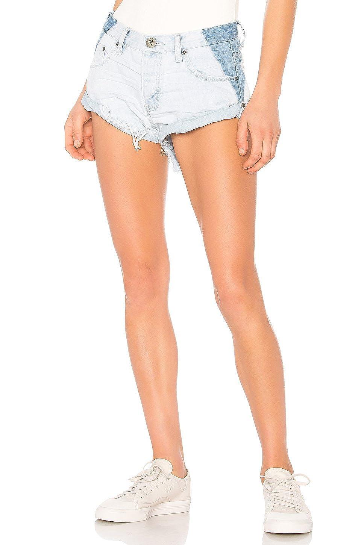 One Teaspoon Bandits, Low Waist Cut Off Denim Shorts In Brando (Newest Style) 20566