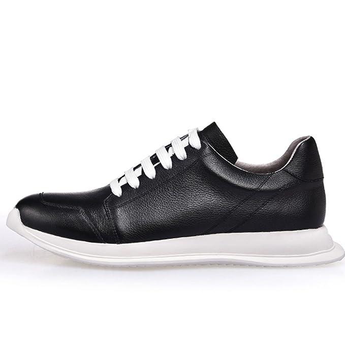 GOLDGOD Zapatos Casuales Para Hombres Tendencia Zapatos De Suela Gruesa Zapatillas Livianas,Blackwhite,43: Amazon.es: Ropa y accesorios