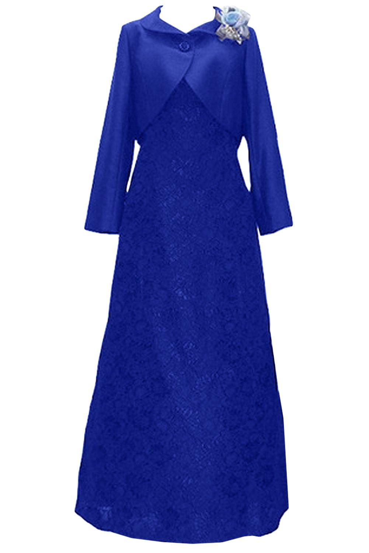 (ウィーン ブライド)Vienna Bride 披露宴用母親ドレス ママのドレス ロングドレス 新婦の母ドレス ボレロ 2ピースドレス 紺色 演奏会 発表会 パーティー お呼ばれ B06XL1HJXW 19W|サファイア サファイア 19W