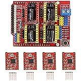 popprint CNC Schild Expansion Board mit A4988Schrittmotor-Treiber mit Kühlkörper für Arduino V3graviermeister