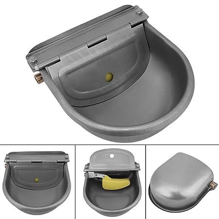 GOTOTOP 4L Acero Inoxidable Tazón de Fuente de Agua de Bebida Automático para Caballos Cabras Ovejas Ganado: Amazon.es: Productos para mascotas