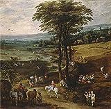 Oil Painting 'Momper Joos De II Brueghel The Elder Jan La Vida En El Campo 1620 22' 16 x 16 inch / 41 x 41 cm , on High Definition HD canvas prints, gifts for Bath Room, Game Room And Nursery decor