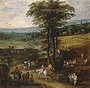 The polyster Canvas of oil painting 'Momper Joos de II Brueghel the Elder Jan La vida en el campo 1620 22 ' ,size: 12 x 12 inch / 30 x 31 cm ,this High Definition Art Decorative Prints on Canvas is fit for Wall art artwork and Home gallery art and Gifts