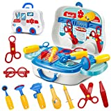 Doctors Set in Medical Carrycase with wheels Role Play Fun Playset for Boys Girls Age 3 Years and Up