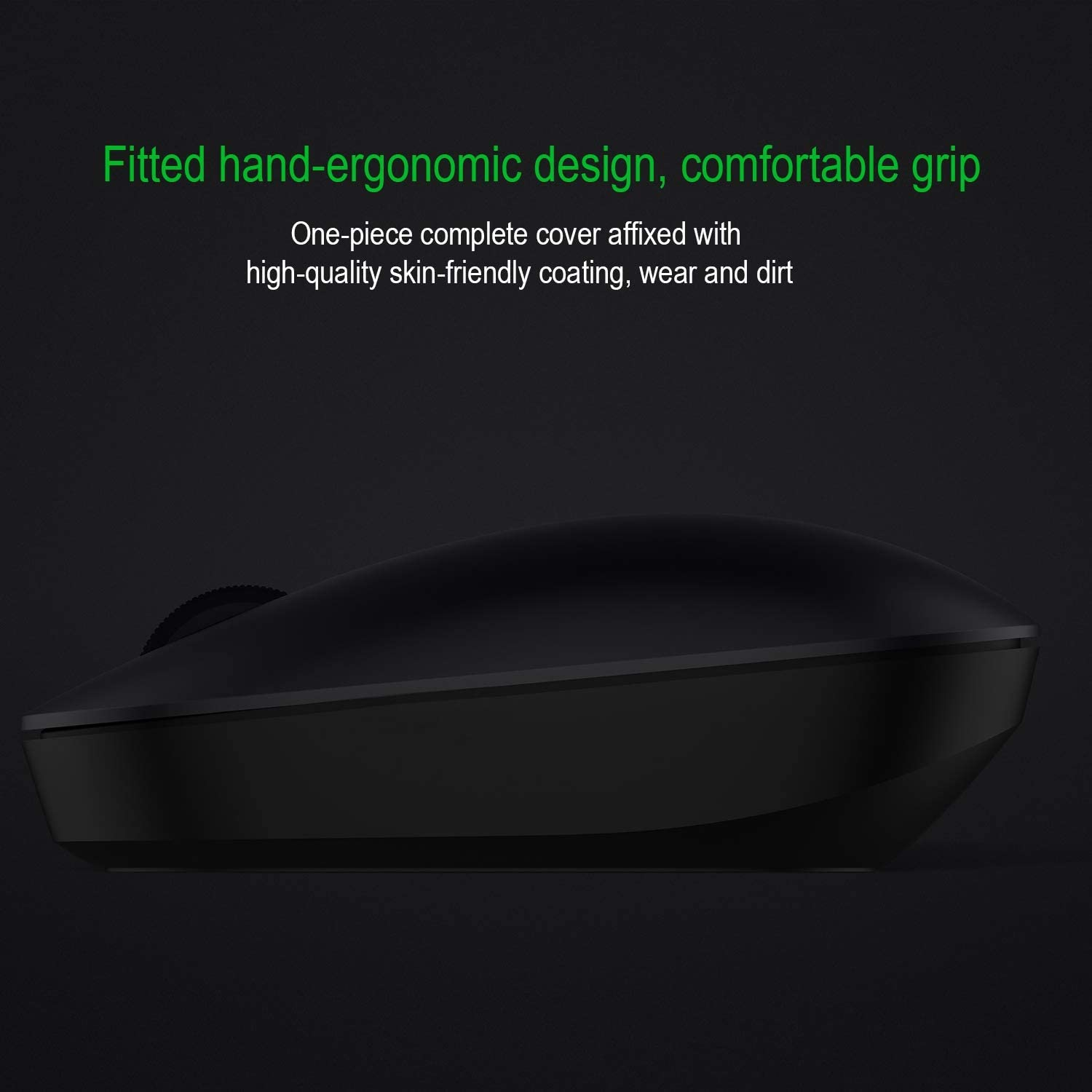 Easy to Connect Laptop//PC//Windows//Mac - Smart Energy Saving,Black etc Wireless Mouse for Easy and Comfortable 2.4G Ergonomic Full-Size Wireless Mouse