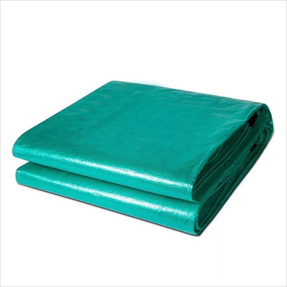 DNSJB Matériel  Polyéthylène (matière Plastique) Surface  tissé imperméable à l'eau La Farbe Grüne Poids  200g   m² Épaisseur  0.45mm, hochwertige Plane (größe   5X 7m)
