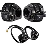 Replacement Parts Switches 1 Pair Motorcycle 1 Handlebar Switches Control Wiring Harness for HarleyMotorcycle Harley Davidson Harley Prince Cruise Seat Switch Combination Switch Handlebar Switch Cycling retail