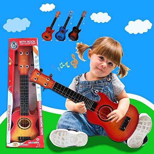 Guitare ukulélé musical jouets instrument avec 4 cordes pour les enfants d'apprentissage par Wishtim (couleur au hasard)