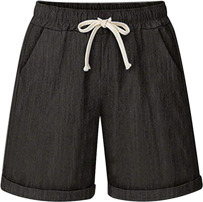 INC Womens Beige Linen Blend Pull On Casual Shorts XS BHFO 7670