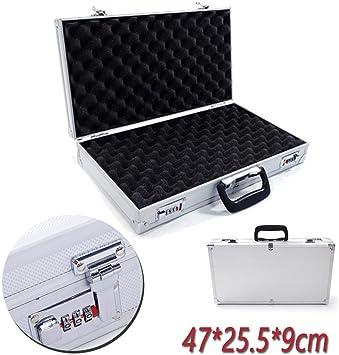 Caja de Herramientas de Aluminio para Pistola, Almacenamiento de Pistola, con Cerradura en L, Caja de Herramientas de Espuma, Herramienta B: Amazon.es: Electrónica