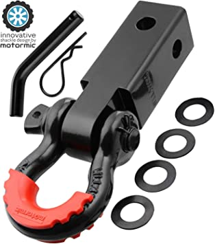 Motormic D Ring Shackles Red Isolator