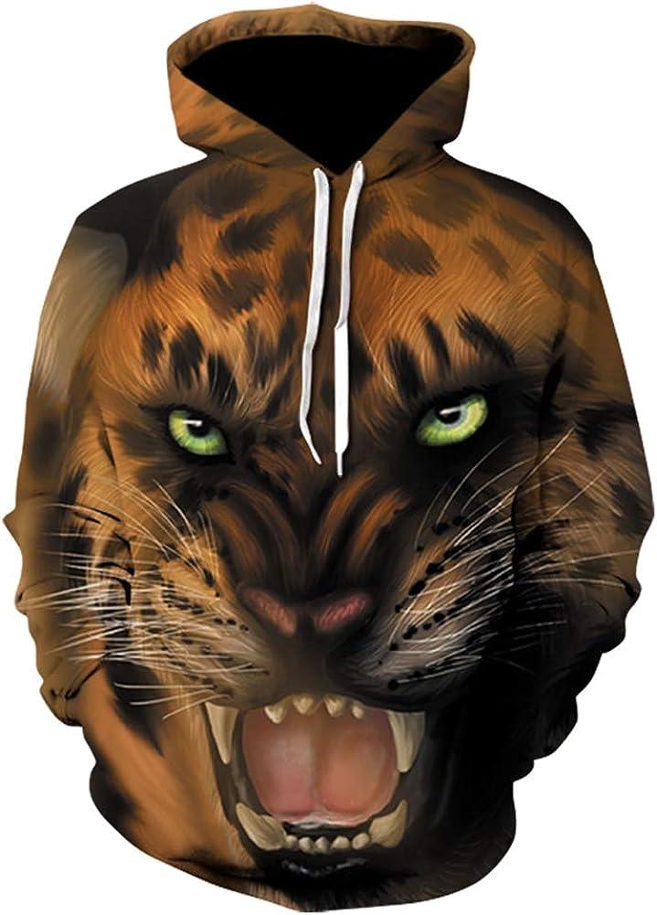 DSstyles Unisex Long Sleeves 3D Print Hoodies Sweatshirts Pullovers Outerwear
