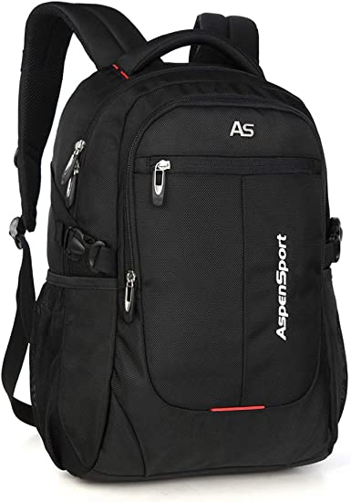 ASPENSPORT Laptop Backpack Fit 15.6 Inch Computer College Student Bookbag Big Business Travel Waterproof Durable Daypack for Men and Women Navy
