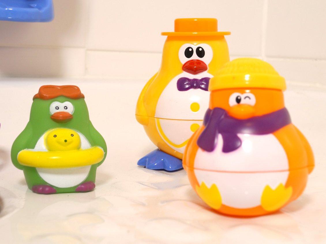 Pinguino Ludi Motivo Set Giochi per Il Bagno
