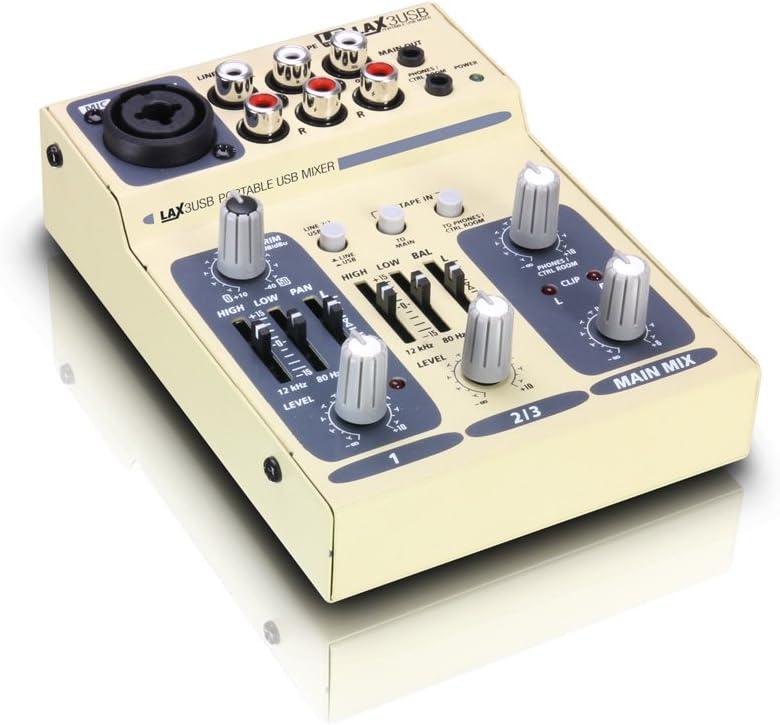 LD Systems LDLAX3USB LAX Serie - Mesa de mezclas (alimentación ...